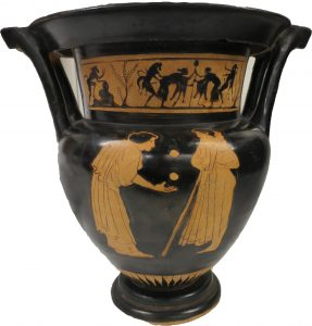 Red-figure krater with two women juggling, DG 305. copyright Doug Gold
